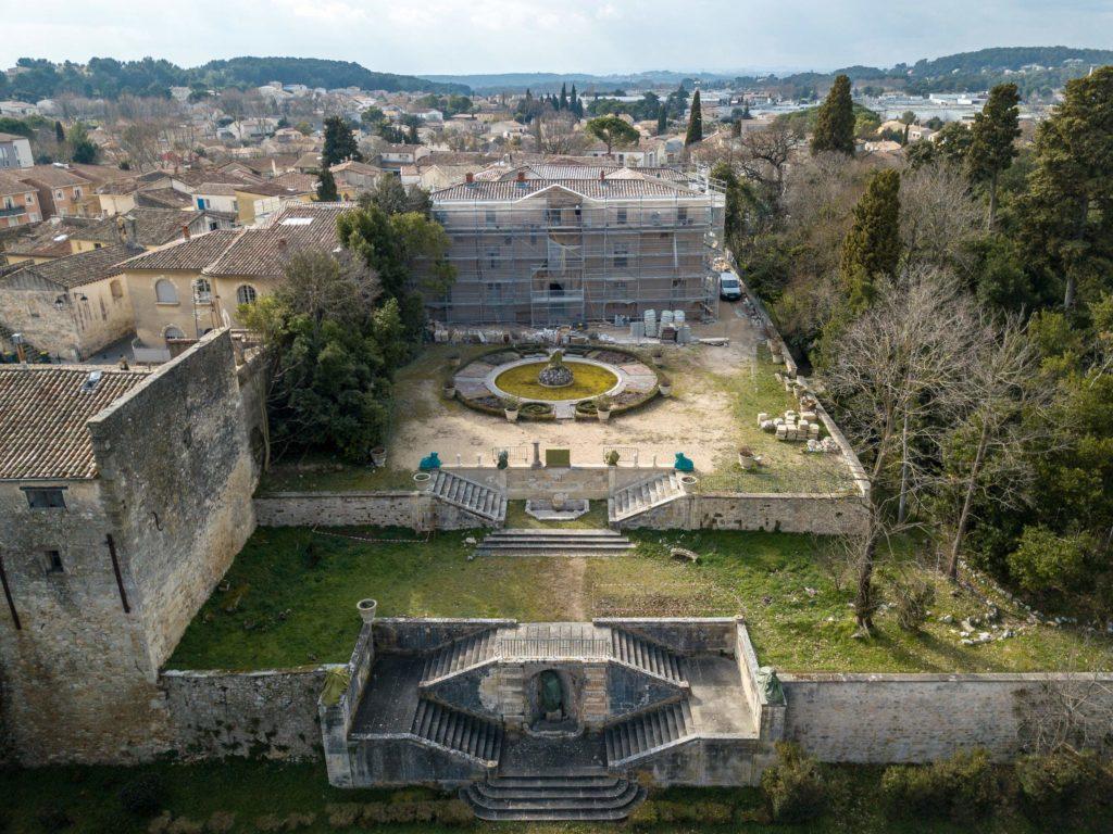 Chateau de Bocaud - Vue du ciel - Mairie - Monument historique